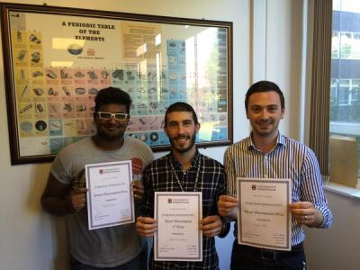 Nikhil, Nacho and Haydn, Poster Prize winners