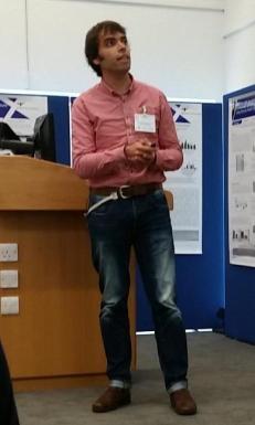 Paco delivering his presentation